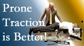 Pensacola spinal traction applied lying face down – prone – is best according to the latest research. Visit Pensacola Spinal Rehab Center.