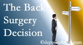 Pensacola back surgery for a disc herniation is an option to be carefully studied before a decision is made to proceed.