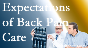 The pain relief expectations of Pensacola back pain patients influence their satisfaction with chiropractic care. What is realistic?