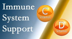 Pensacola Spinal Rehab Center presents details about the benefits of vitamins C and D for the immune system to fight infection.