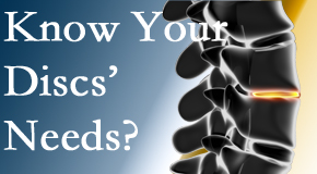 Your Pensacola chiropractor knows all about spinal discs and what they need nutritionally. Do you?