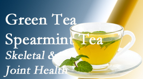 Pensacola Spinal Rehab Center shares the benefits of green tea on skeletal health, a bonus for our Pensacola chiropractic patients.