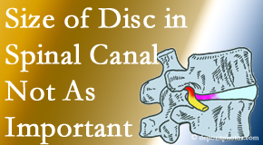 Pensacola Spinal Rehab Center presents new research that again states that the size of a disc herniation doesn't matter that much.