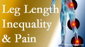 Pensacola Spinal Rehab Center tests for leg length inequality as it is related to back, hip and knee pain issues.