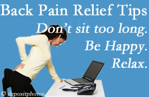 Pensacola Spinal Rehab Center reminds you to not sit too long to keep back pain at bay!