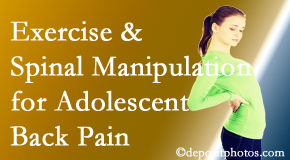 Pensacola Spinal Rehab Center uses Pensacola chiropractic and exercise to help back pain in adolescents.