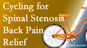 Pensacola Spinal Rehab Center encourages exercise like cycling for back pain relief from lumbar spine stenosis.