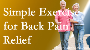 Pensacola Spinal Rehab Center encourages simple exercise as part of the Pensacola chiropractic back pain relief plan.