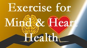 A healthy heart helps maintain a healthy mind, so Pensacola Spinal Rehab Center encourages exercise.