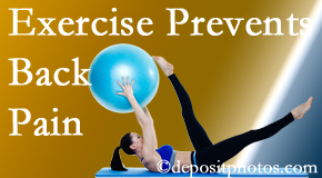 Pensacola Spinal Rehab Center encourages Pensacola back pain prevention with exercise.