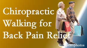 Pensacola Spinal Rehab Center encourages walking for back pain relief in combination with chiropractic treatment to maximize distance walked.
