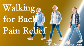Pensacola Spinal Rehab Center often recommends walking for Pensacola back pain sufferers.