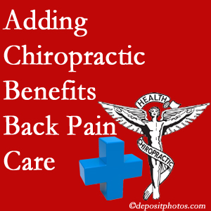 Added Pensacola chiropractic to back pain care plans helps back pain sufferers.