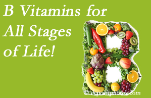 Pensacola Spinal Rehab Center suggests a check of your B vitamin status for overall health throughout life.