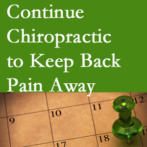 Continued Pensacola chiropractic care fosters back pain relief.