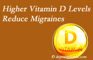 Pensacola Spinal Rehab Center shares a new report that higher Vitamin D levels may reduce migraine headache incidence.
