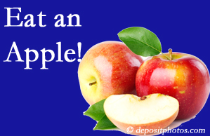 Pensacola chiropractic care recommends healthy diets full of fruits and veggies, so enjoy an apple the apple season!